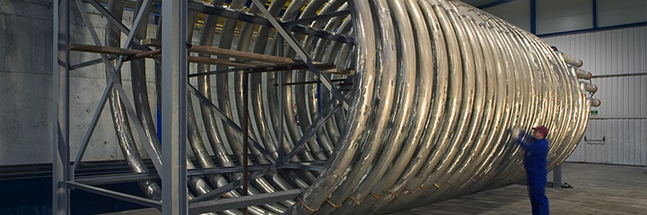 HELICAL RADIANT COIL FOR REACTOR FEED HEATER TOTAL FINA ANTWERP REFINERY